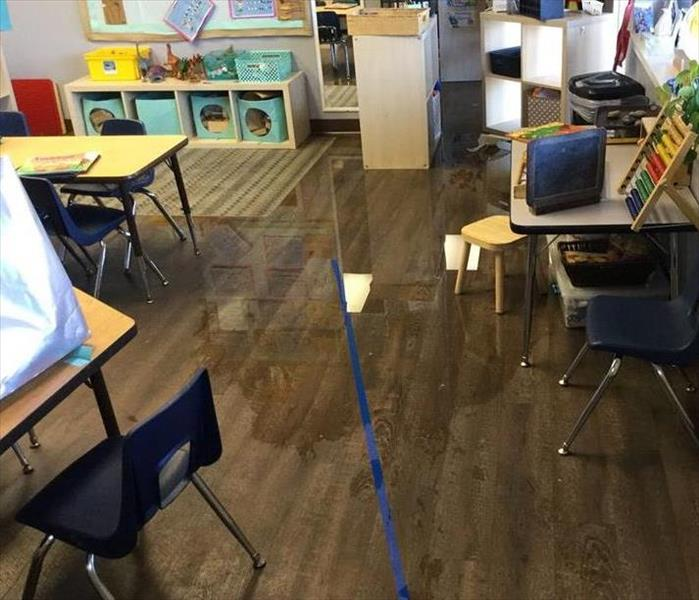 Flooded Classroom in Mission Viejo, CA Before